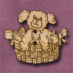 006 Dog in Basket 35m x 30mm