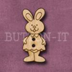 013 Girl Rabbit 14mm x 30mm