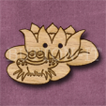 020 Frog on a Lily Pad 38mm x 25mm