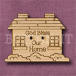 043 God Bless our Home 40mm x 30mm