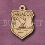 Barbados Charm 22mm x 31mm