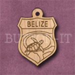 Belize Charm 22mm x 31mm