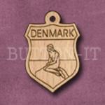 Denmark Charm 22mm x 31mm