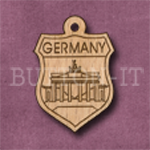 Germany Charm 22mm x 31mm