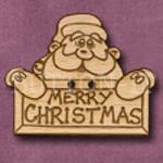 X002 Santa Button 37mm x 30mm