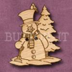 X007 Snowman Button 30mm x 35mm