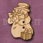 X009 Snowman Button 23mm x 35mm