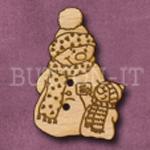 X012 Snowman Button 24mm x 35mm
