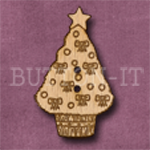 X024 Christmas Tree Button 21mm x 35mm