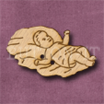X033 Baby Jesus Button 39mm x 23mm