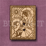 X034 Madonna Button 23mm x 30mm