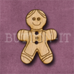 X040 Gingerbread Man Button 22mm x 30mm
