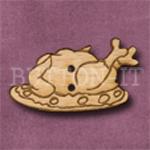 X041 Christmas Turkey Button 35mm x 20mm