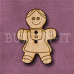 X042 Gingerbread Girl Button 22mm x 30mm