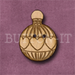 X045 Christmas Bauble Button 20mm x 27mm
