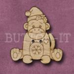 X144 Festive Sock Monkey Button 28mm x 31mm