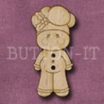 X145 Gingerbread Man Button 17mm x 35mm