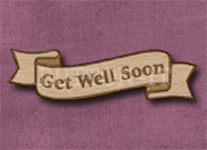 B-GWS Get Well Soon 50mm x 14mm