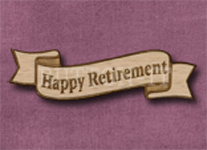 B-HR Happy Retirement 50mm x 14mm