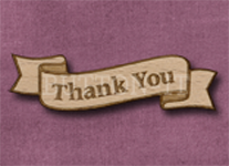 B-TY Thank You 50mm x 14mm