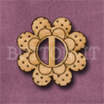 BF-04 Flower Buckle 27mm x 27mm