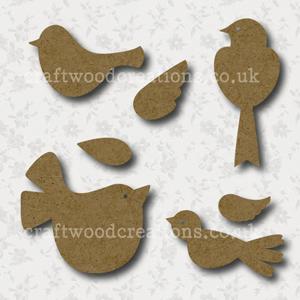 Craftwood Birds Shapes