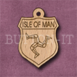 Isle of Man Charm 22mm x 31mm