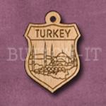 Turkey Charm 22mm x 31mm