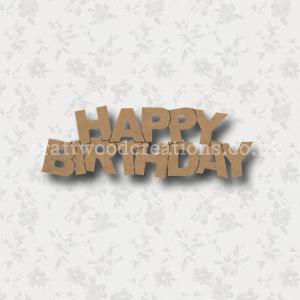Craftwood Happy Birthday Sign