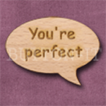 """You're perfect"" Speech Bubble 36mm x 27mm"
