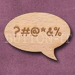 """""""?#@*&%"""" Speech Bubble 36mm x 27mm"""