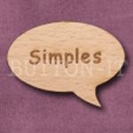 """Simples"" Speech Bubble 36mm x 27mm"