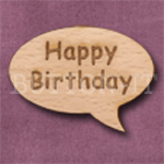 """Happy Birthday"" Speech Bubble 36mm x 27mm"