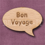 """Bon Voyage"" Speech Bubble 36mm x 27mm"