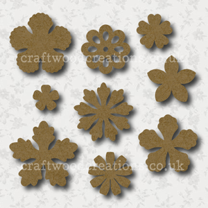 Craftwood Flower Shapes