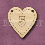 HB-5 Heart Number Bunting 26mm x 28mm