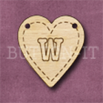 HB-W Heart Bunting 26mm x 28mm