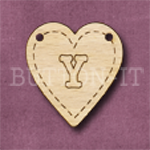 HB-Y Heart Bunting 26mm x 28mm