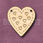 HBUN-3 Heart Bunting Hearts 26mm x 28mm