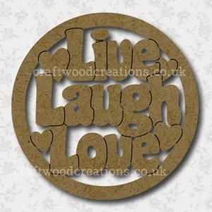 Craftwood Live Laugh Love