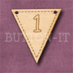 NB-1 Number Bunting 28mm x 30mm