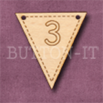 NB-3 Number Bunting 28mm x 30mm