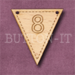 NB-8 Number Bunting 28mm x 30mm