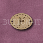 Oval Alphabet Button F