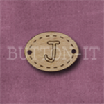 Oval Alphabet Button J