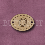 Oval Alphabet Button O