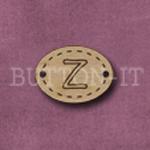 Oval Alphabet Button Z