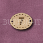 Oval Number Button 7