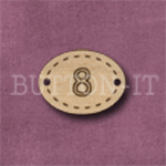 Oval Number Button 8