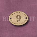 Oval Number Button 9